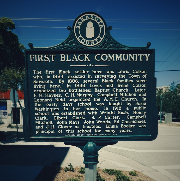 First Black Community Sign
