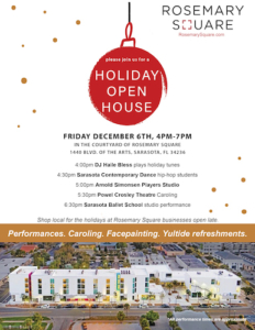RMSQ Holiday open house Dec 6th